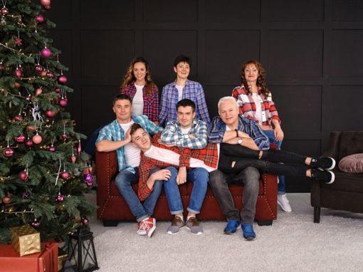 Фотосессия для большой семьи в новый год