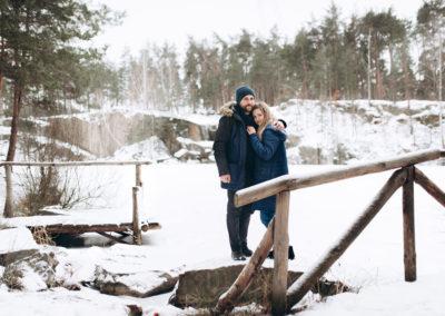 Love Story зимой в лесу