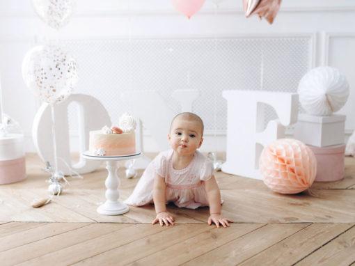 Нежная фотосессия на 1 годик