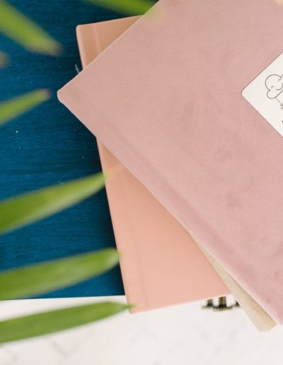 розовые с велюровой обложкой