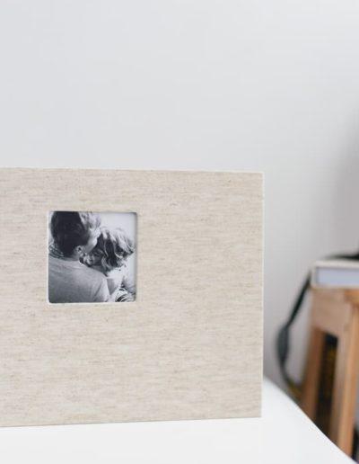 Необычная широкая книга с простой фотовставкой